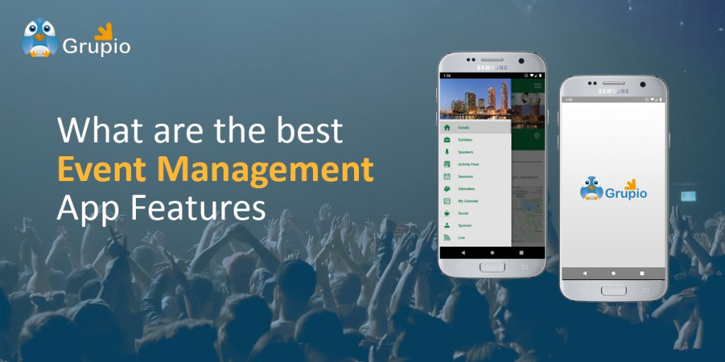 best event management app feature - Grupio