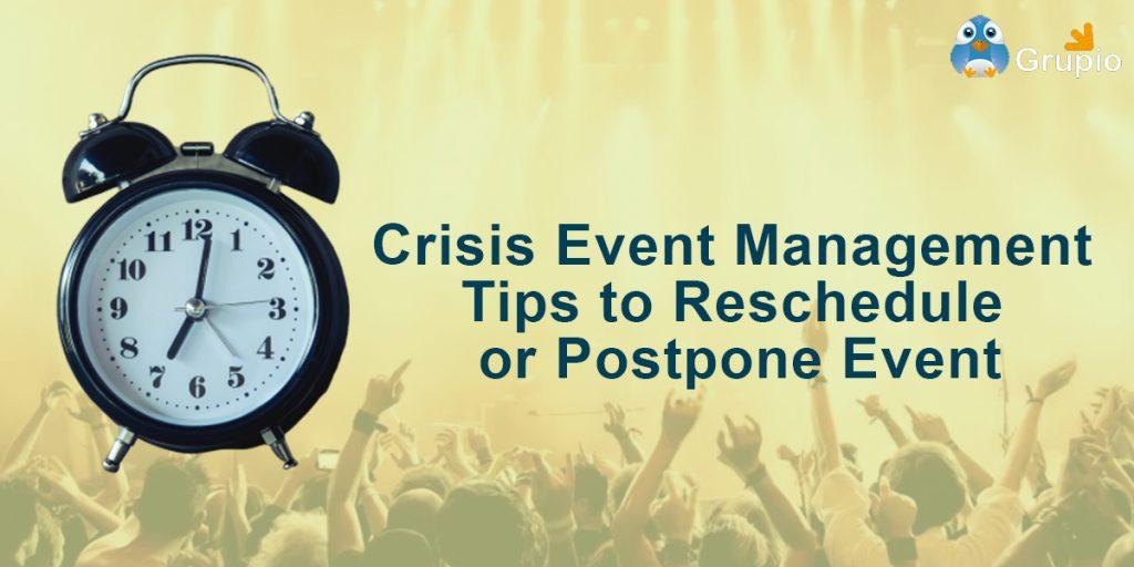 crisis event management tipis | grupio