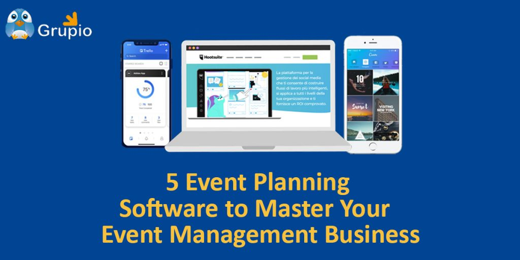 event planning softwares for event management - grupio