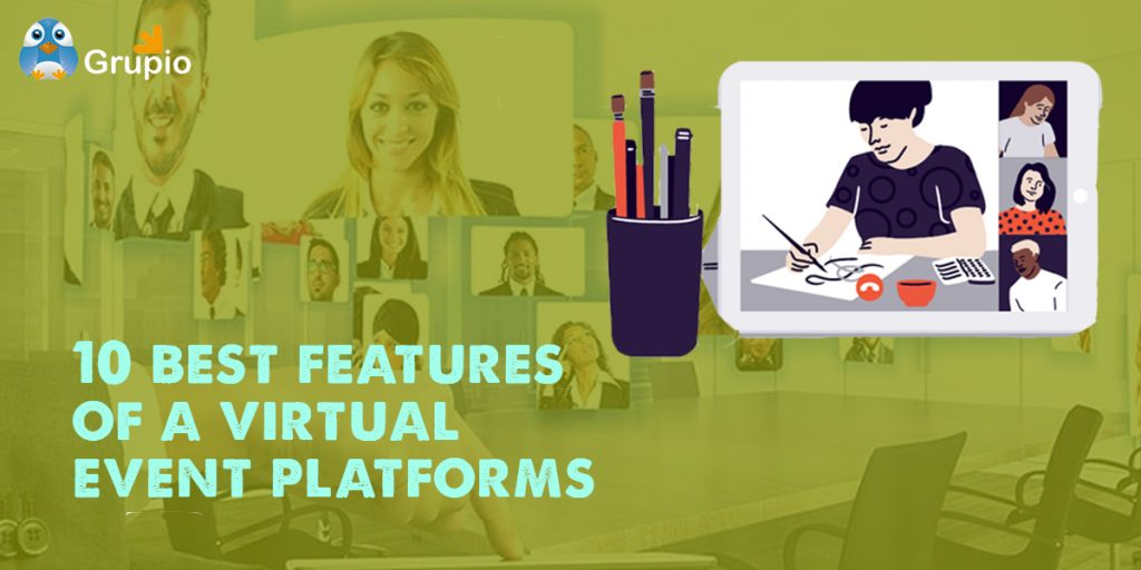 virtual event platform features | Grupio