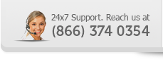24x7 Support. Reach us at (866) 374 0354
