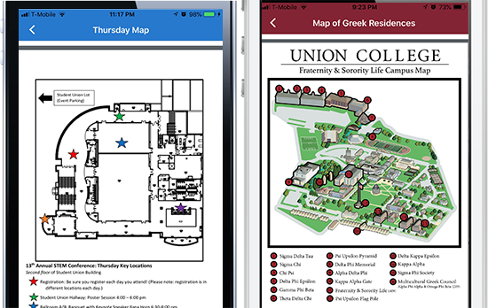 University Apps for Illustrated maps